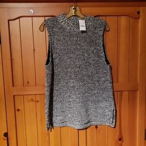 J crew sleeveless cotton  blend knit sweater.